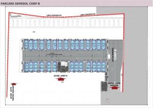 07 - Anghel Moldoveanu 61 - Plan parcare demisol Corp B