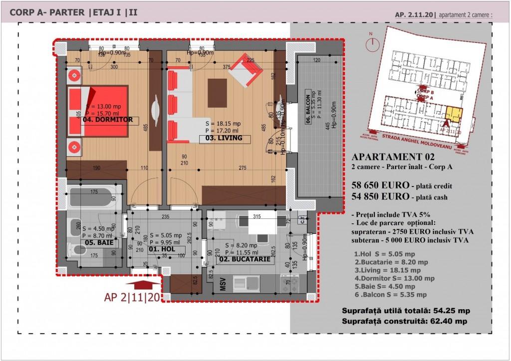 Anghel Moldoveanu 61 - Corp A - Apartament 02