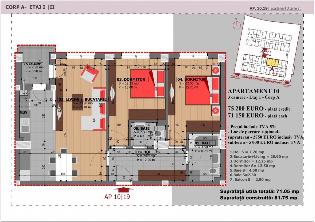 Anghel Moldoveanu 61 - Corp A - Apartament 10