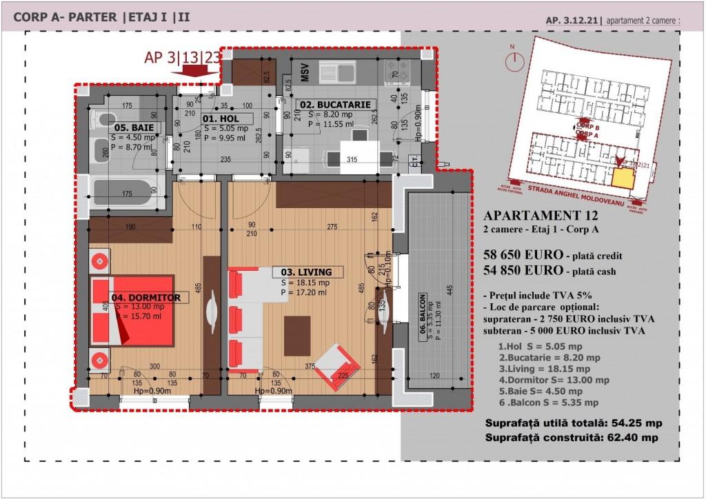 Anghel Moldoveanu 61 - Corp A - Apartament 12