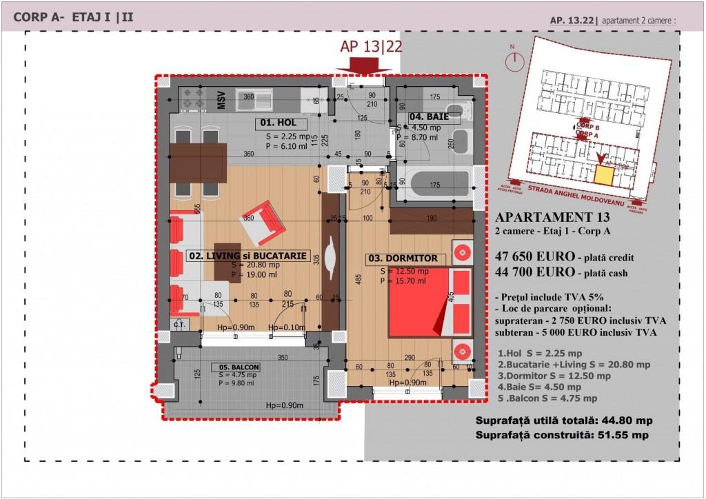 Anghel Moldoveanu 61 - Corp A - Apartament 13