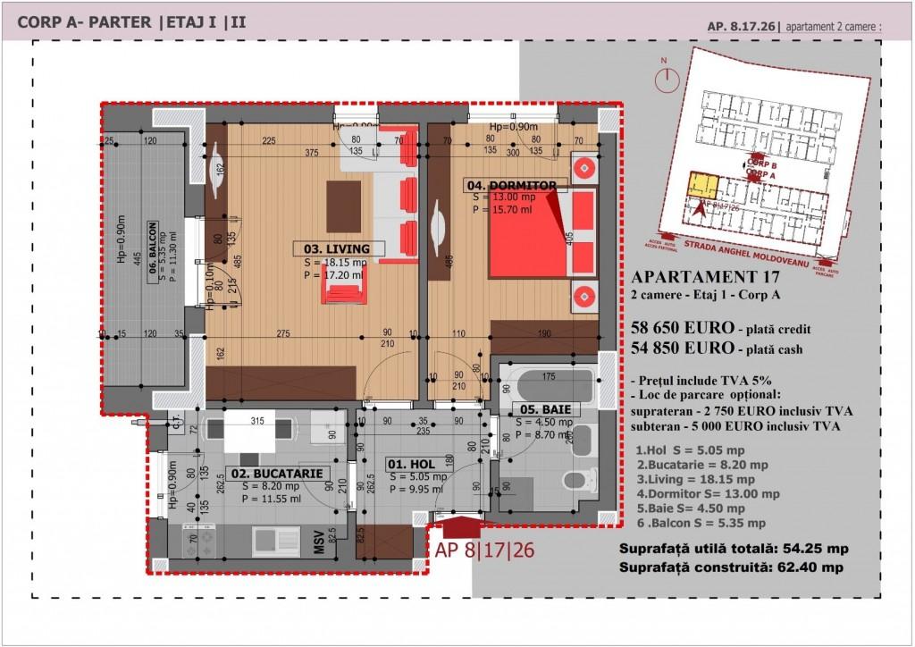 Anghel Moldoveanu 61 - Corp A - Apartament 17