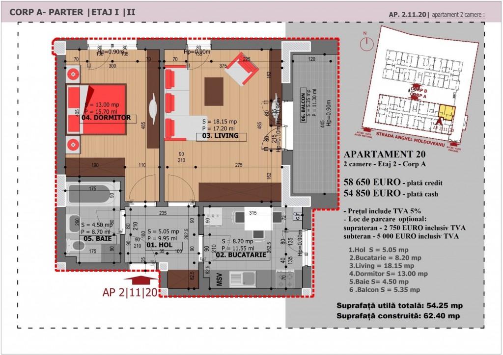Anghel Moldoveanu 61 - Corp A - Apartament 20