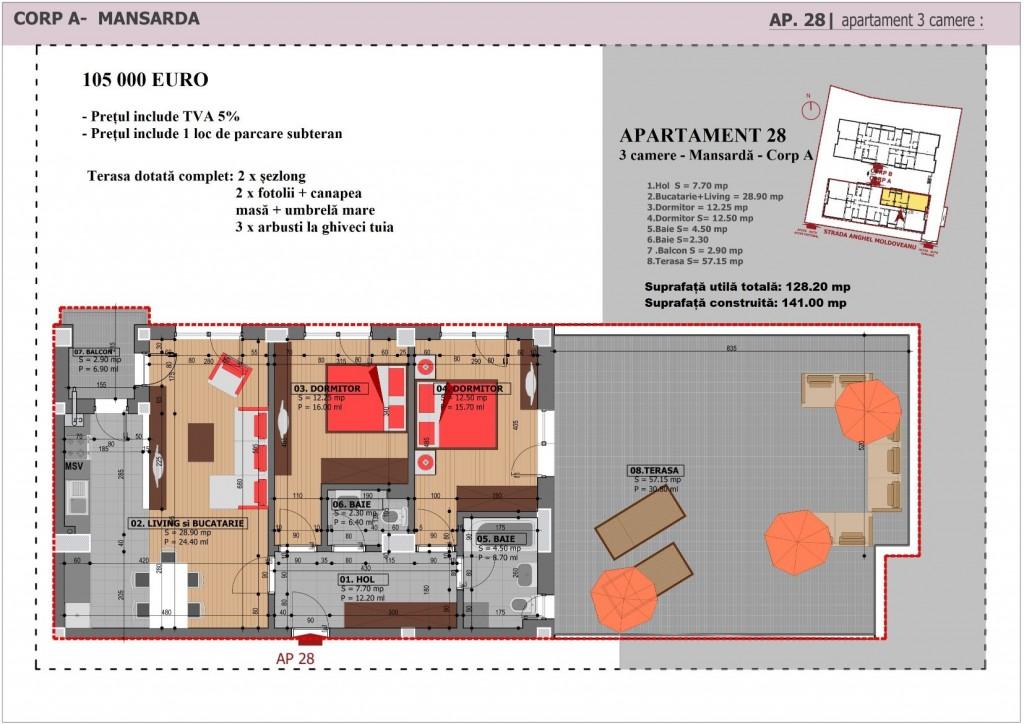 Anghel Moldoveanu 61 - Corp A - Apartament 28