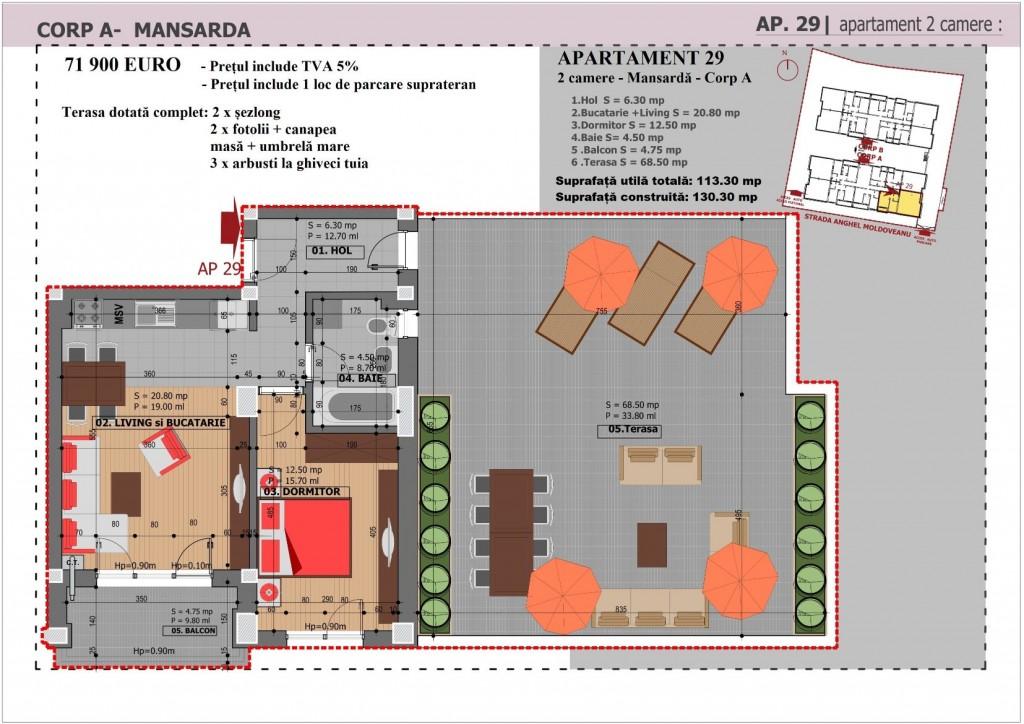 Anghel Moldoveanu 61 - Corp A - Apartament 29