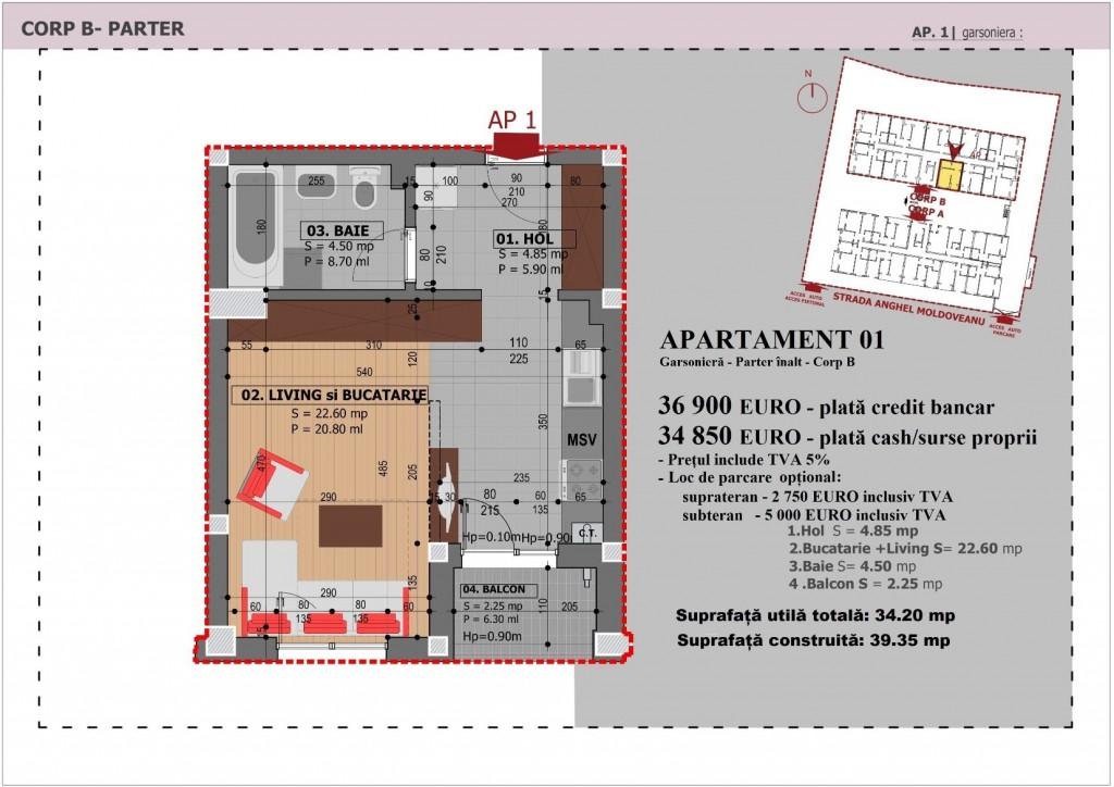 Anghel Moldoveanu 61 - Corp B - Apartament 01