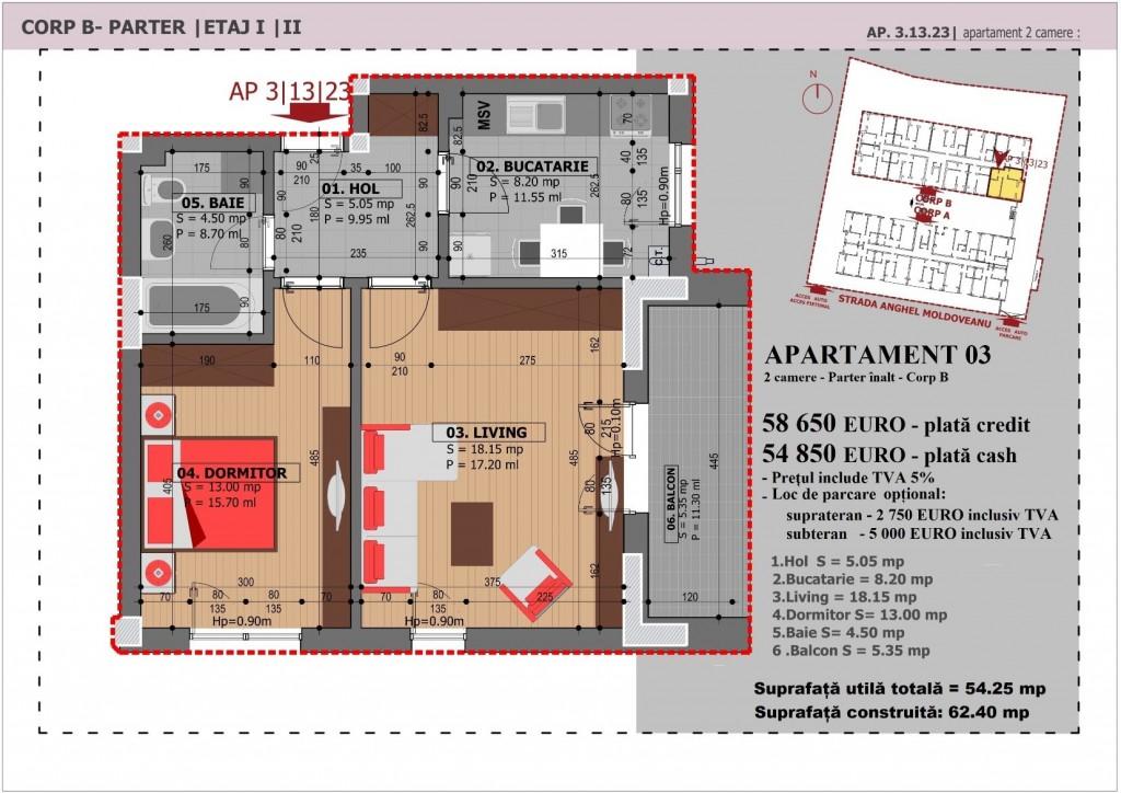 Anghel Moldoveanu 61 - Corp B - Apartament 03