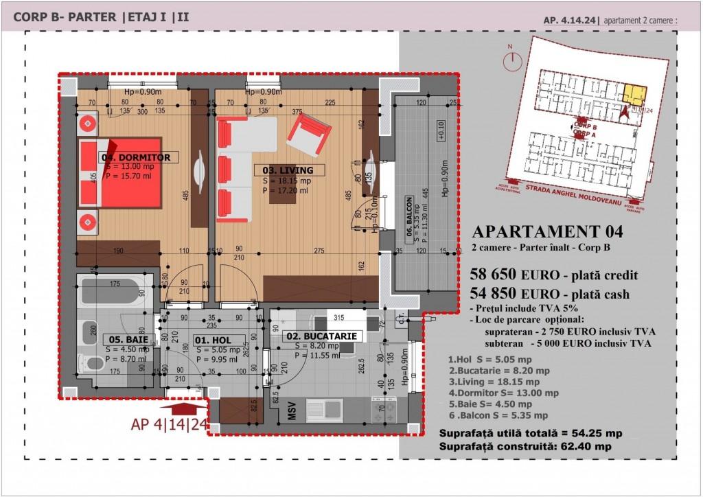 Anghel Moldoveanu 61 - Corp B - Apartament 04