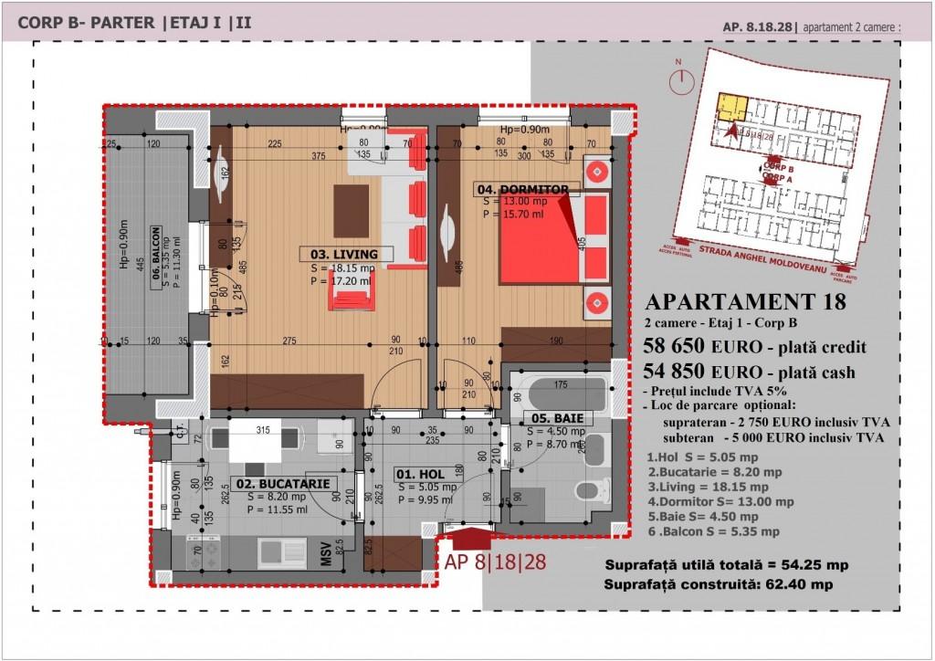 Anghel Moldoveanu 61 - Corp B - Apartament 18