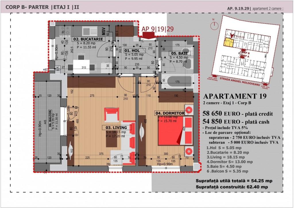 Anghel Moldoveanu 61 - Corp B - Apartament 19