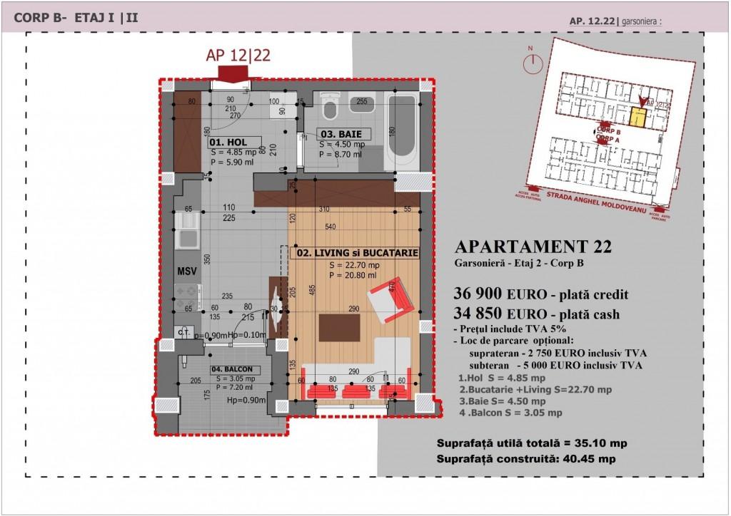 Anghel Moldoveanu 61 - Corp B - Apartament 22