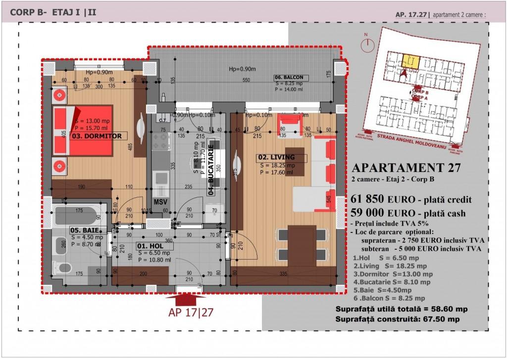 Anghel Moldoveanu 61 - Corp B - Apartament 27