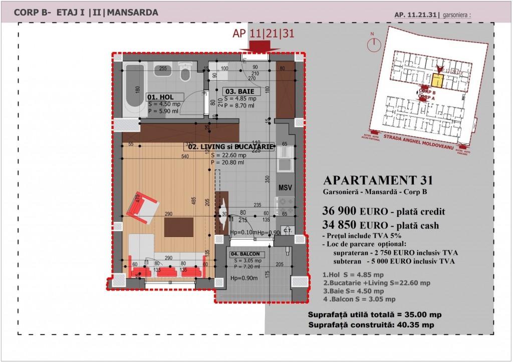 Anghel Moldoveanu 61 - Corp B - Apartament 31