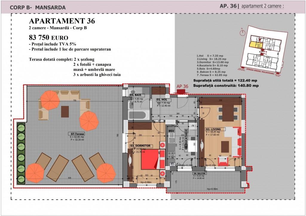 Anghel Moldoveanu 61 - Corp B - Apartament 36