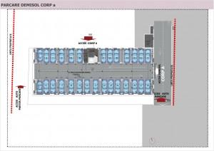 07 - Anghel Moldoveanu 61 - Plan parcare demisol Corp A